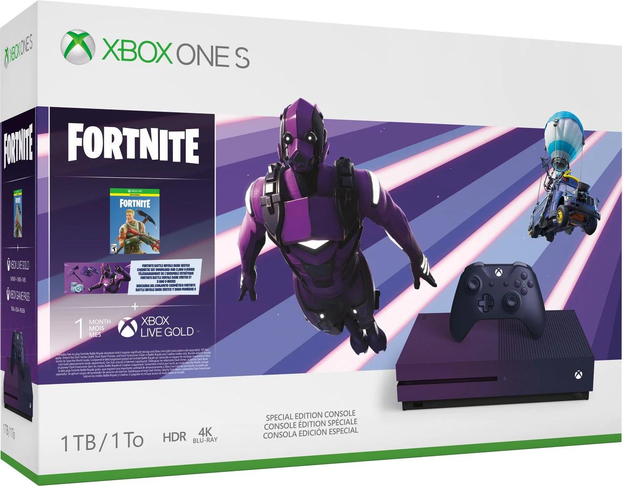 Sélection de Xbox One (S & X) en promotion - Ex : Xbox One S 1 To - Fortnite Battle Royale Édition Collector