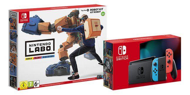 Console Nintendo Switch - Rouge/bleu + Kit Labo Robot (Frontaliers Belgique)