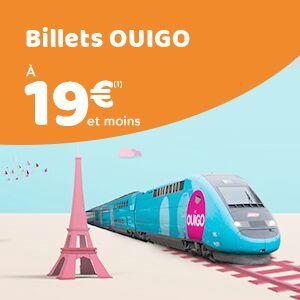 Ouigo - 600 000 billets à 19€ et moinssur toute la France