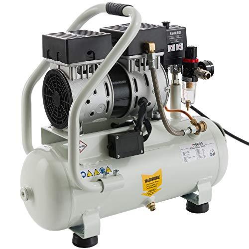 Compresseur d'air Arebos 12 litres, 500 W, 54,4 dB, 89 L/min, 9 bars, silencieux