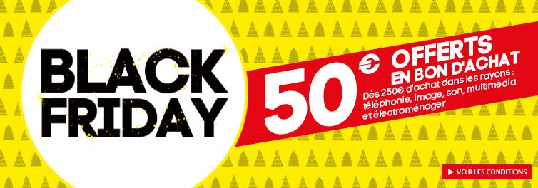 50€ offerts en bon d'achat valable sur les rayons Décoration & Meuble dès 250€ d'achat parmi une sélection de rayons