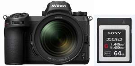 Pack appareil photo hybride Nikon Z6 (24.5 Mpix, CMOS) + objectif Nikkor 24-70 mm f/4 + carte SD Sony XQD - 64 Go (foto-erhardt.de)