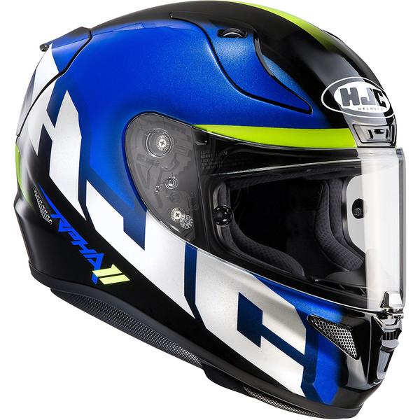 Casque de moto HJC RPHA11 SPICH - Bleu/Noir/Blanc