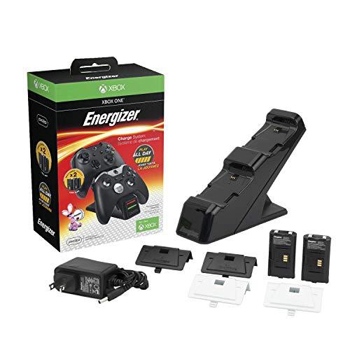 Chargeur de batterie Energizer pour Xbox One + 2 batteries incluses - Noir