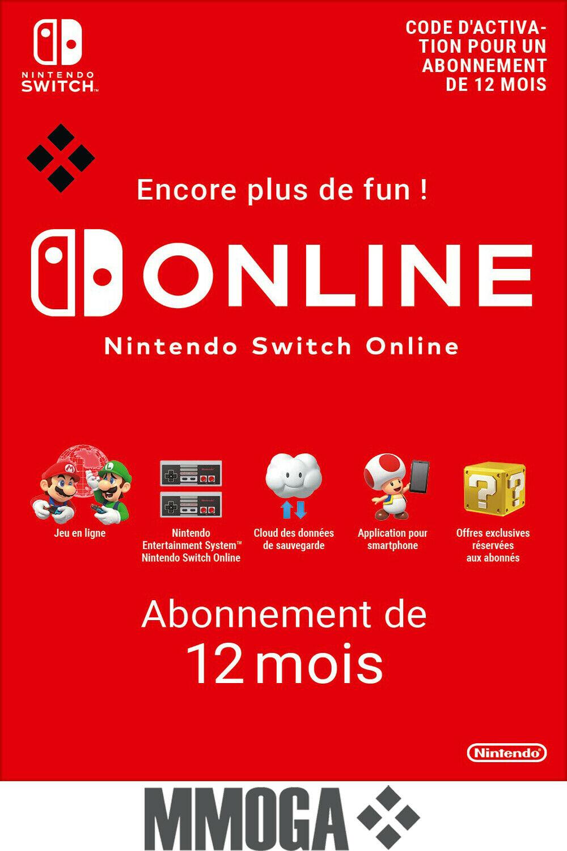Abonnement Nintendo Switch - 1 an (Dématérialisé)
