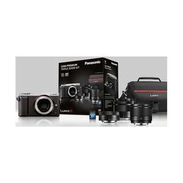 Kit Appareil photo Hybride Panasonic Lumix DMC-GX80 avec Objectifs 12-32mm + 35-100mm + 25mm f/1.7 et Carte SDHC 16 Go (615,13€ avec code)