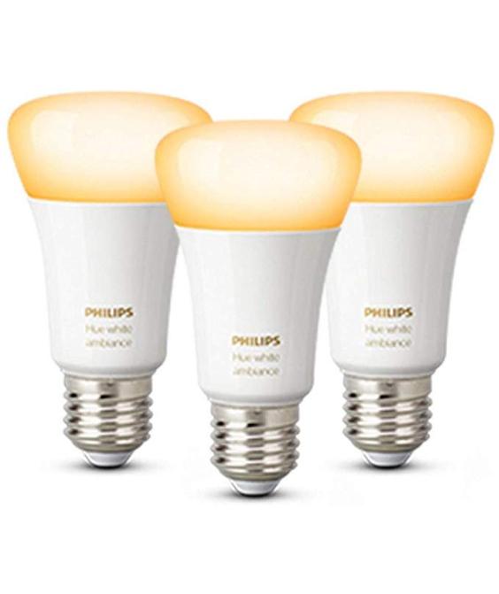 Lot de 3 ampoules Philips Hue White Ambiance - Bluetooth - B22/E27/GU10