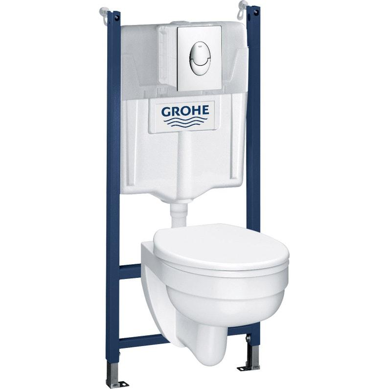 Pack WC suspendu Grohe Solido curve rimless