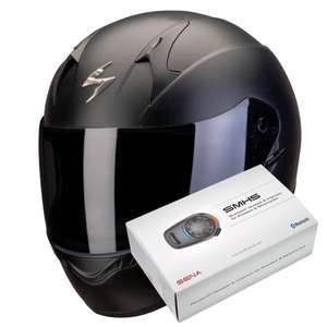 Casque moto Scorpion Exo 390 + Kit Bluetooth