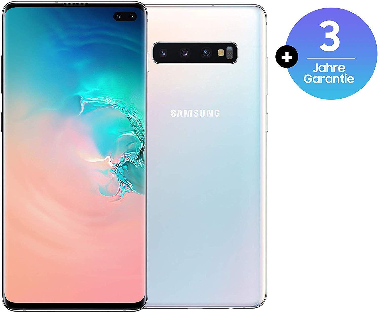 "Smartphone 6.4"" Samsung Galaxy S10+ Plus - 128 Go, 8 Go de RAM, Blanc prisme + 12 Mois de Garantie offerte (Version Allemande)"