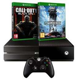 Console Microsoft Xbox One 500 Go + Star wars Battlefront + Call Of Duty Black Ops 3 + Casque