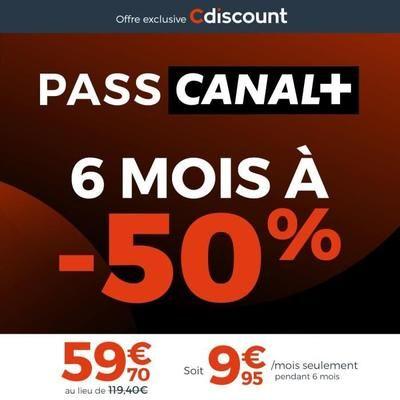 6 Mois d'abonnement Pass Canal+