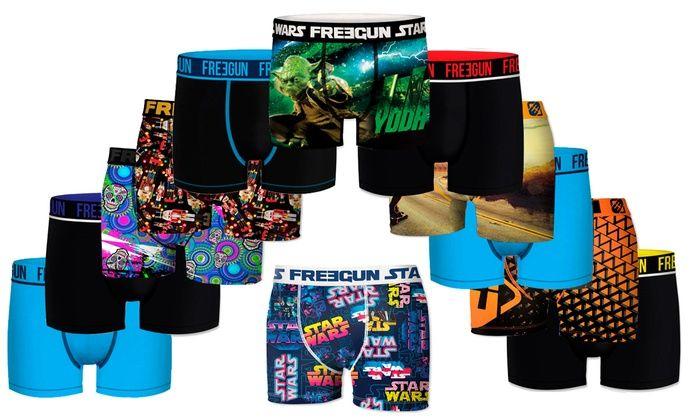 Pack de 6 Boxers aléatoires de la marque Freegun pour Homme