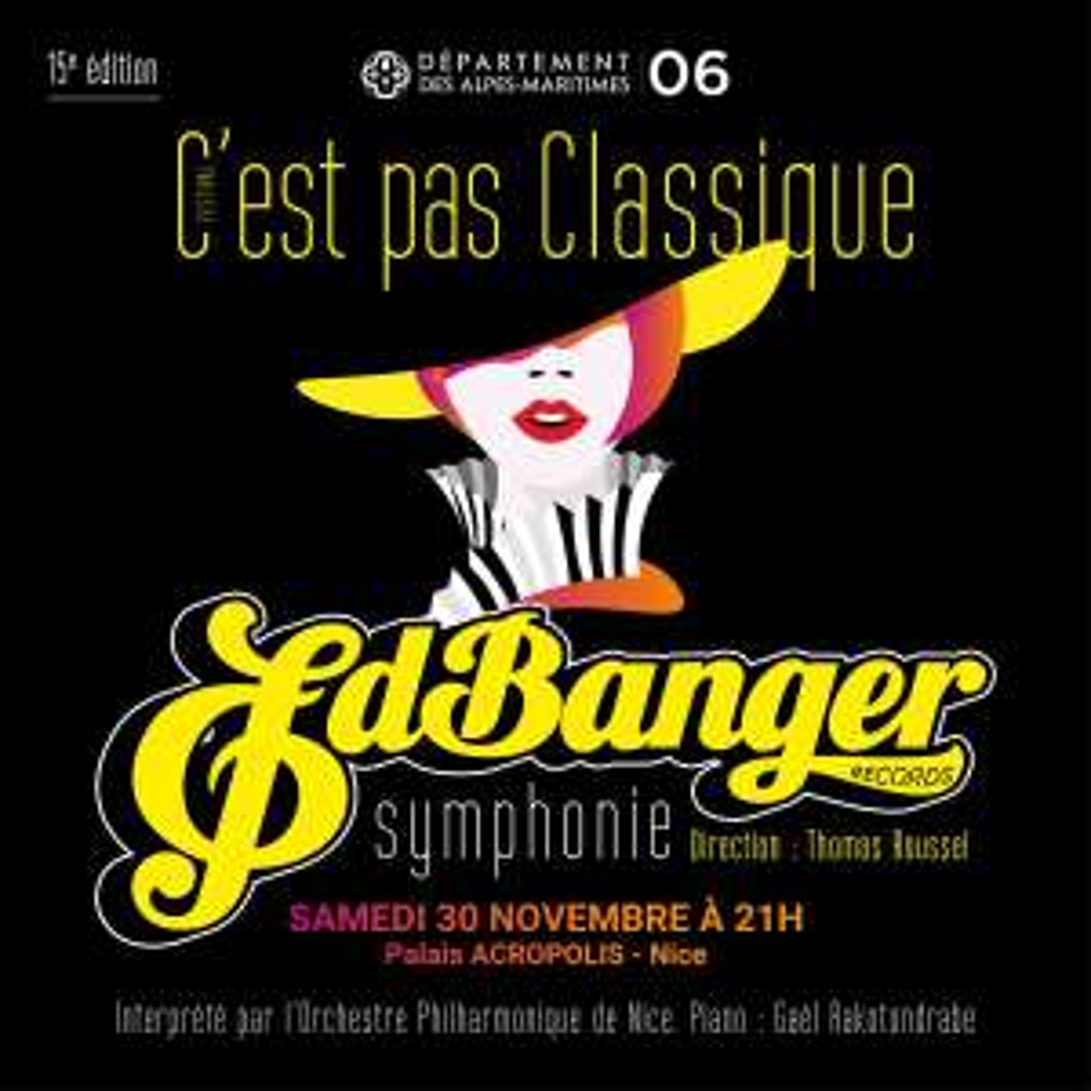 Invitation gratuite pour le festival C'est pas classique Ed Banger Symphonie - du 29 novembre au 1er décembre, à Acropolis Nice (06)
