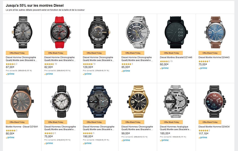 Jusqu'à 55% de réduction sur une sélection de montres Diesel