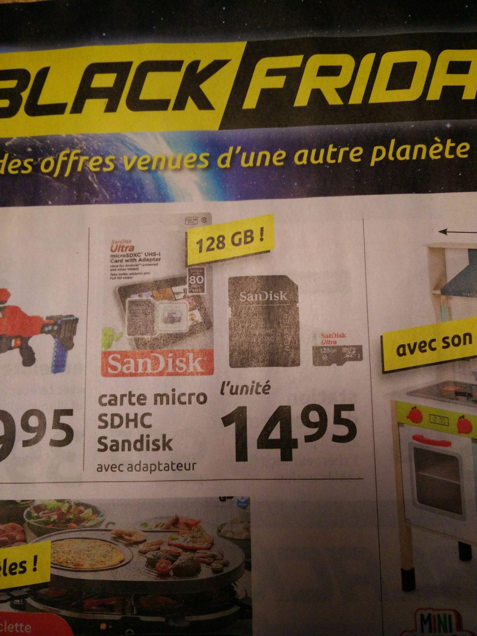 Carte MicroSD SanDisk Ultra 128 Go (Frontaliers Belgique)