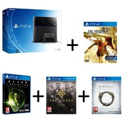 Pack Console Playstation 4 + Final Fantasy + Alien Isolation + The Order + The Elder Scrolls Online +50€ offert