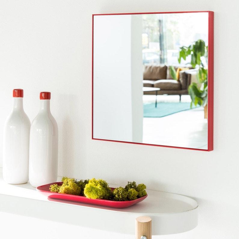Miroir Jo - Rouge, 30 x 30cm