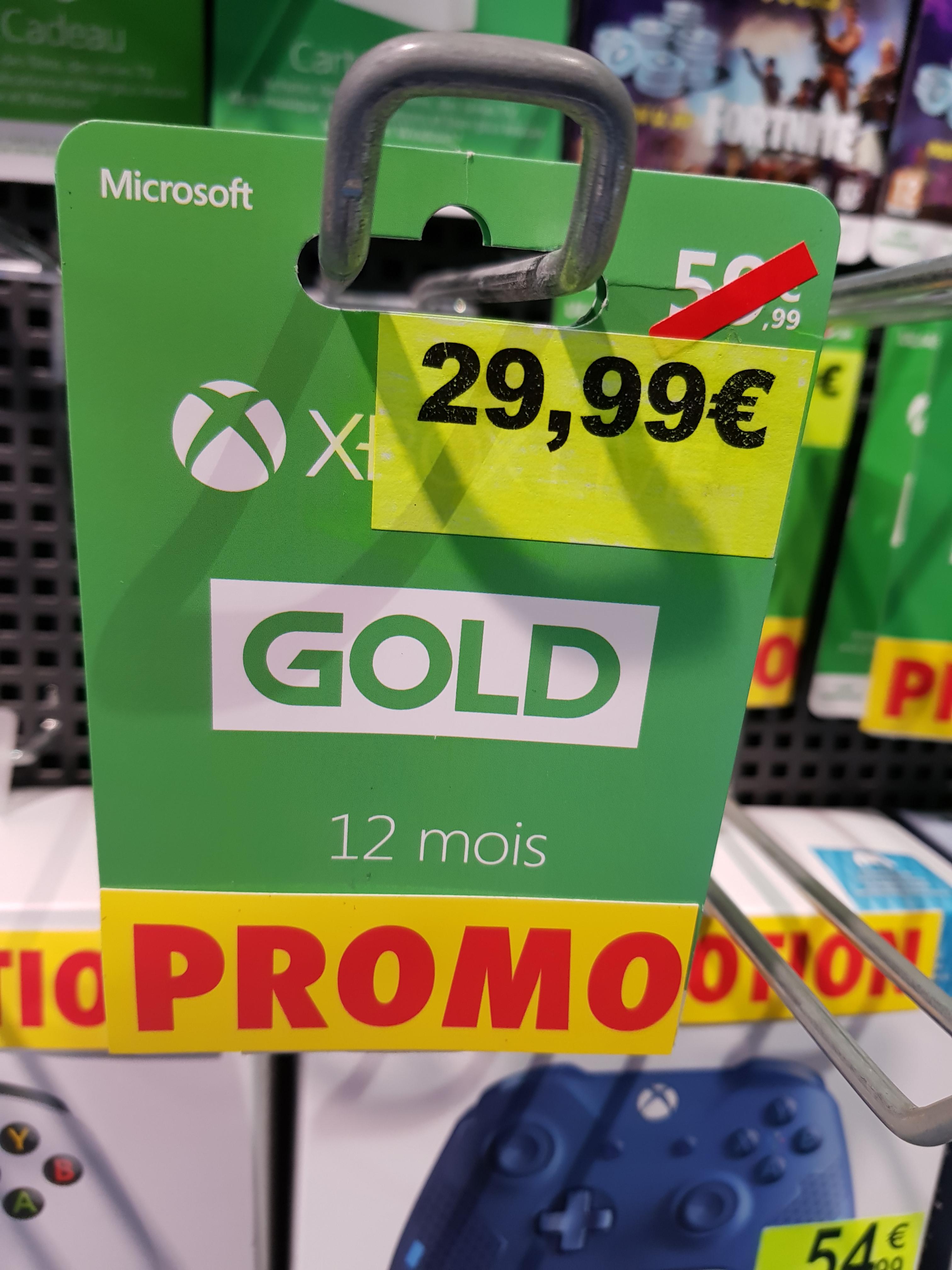 Abonnement Xbox Live Gold 12 mois - Saran(45)