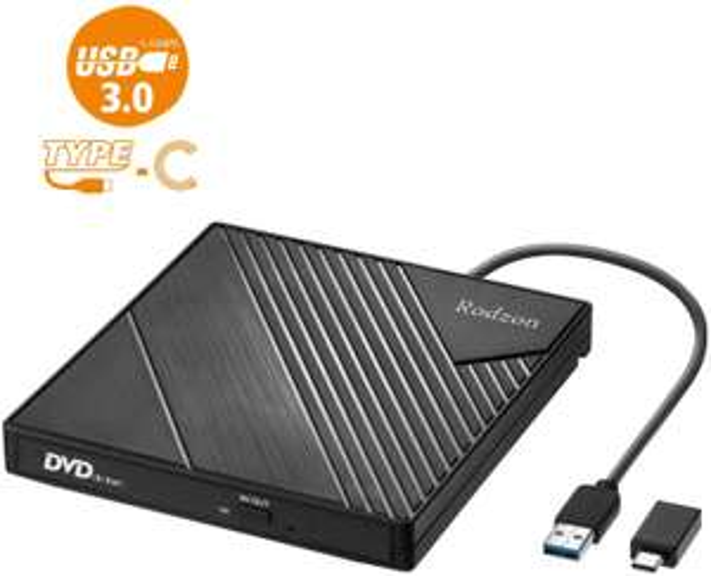 [Prime] Lecteur/graveur CD/DVD externe USB 3.0 + adaptateur USB C (vendeur tiers)