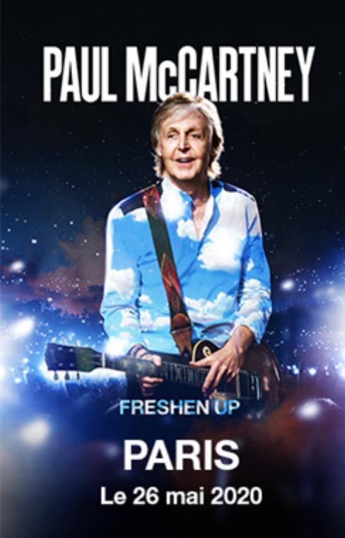 Billet Concert Paul McCartney Freshen Up le 28 Mai 2020 en Fosse - Paris (75)