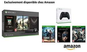 Pack Xbox One X 1 To + 2ème manette + Division 2 + Resident Evil + HellBlade + Gears of War 4