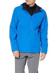 Sélection de veste imperméable Salomon en promotion. Ex : Veste Salomon Essential JKT - Bleu (Nautical Blue), Taille M