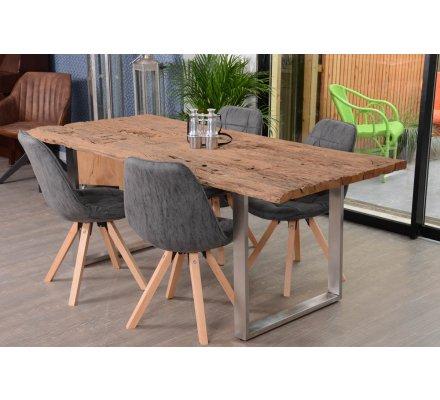 Table SaM en traverse de chemin de fer - 200 cm 'Nature' (meuble-house.fr)