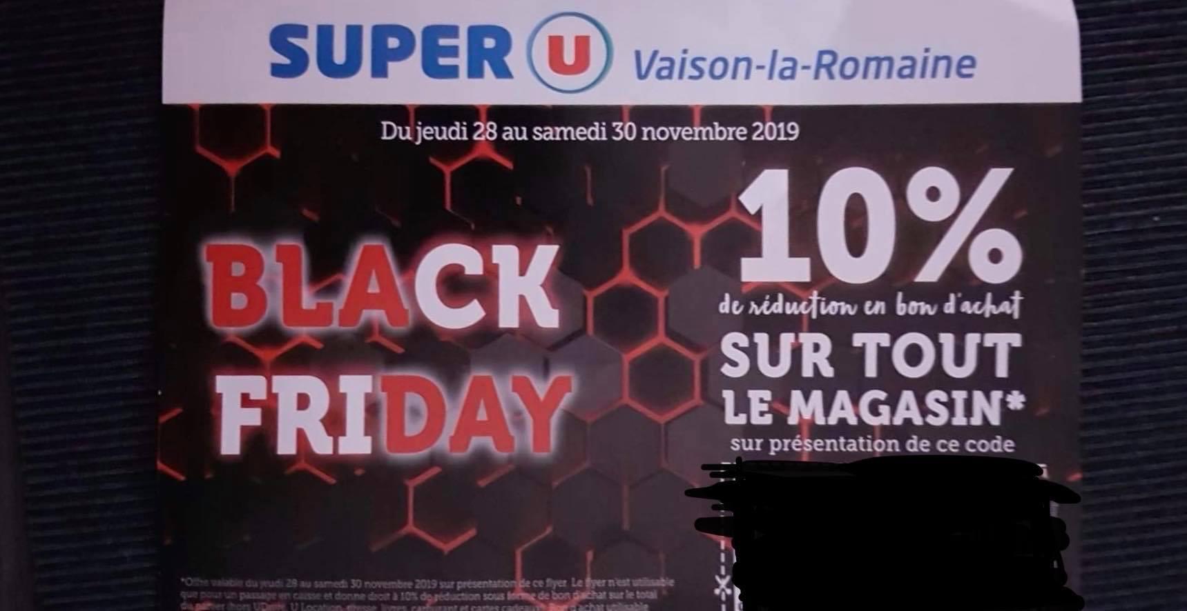 10% offert en bon d'achat sur tout le magasin - Super U Vaison-la-Romaine (84)