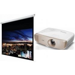 Vidéoprojecteur DLP, 1080p, 3D, CinematicColor, ISF Benq W2000 + Ecran électrique Instaal Insmot 16/9 200cm