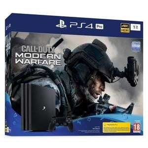Pack Console PS4 Pro (Noir) - 1 To + Call Of Duty Modern Warfare
