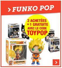 3 figurines Funko Pop achetées = 1 gratuite, soit les 4