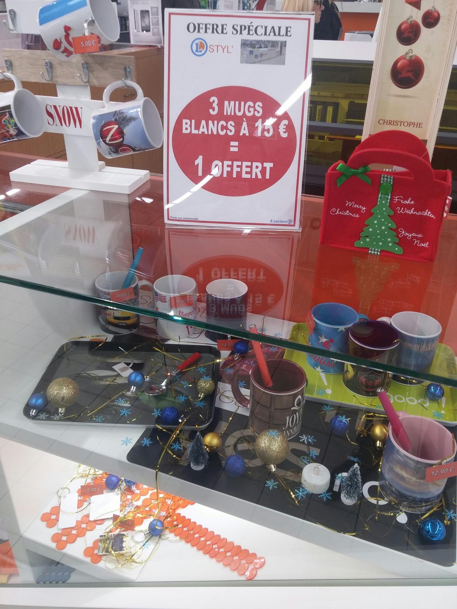 Sélection d'objets personnalisés en promotion - Ex : 4 mugs personnalisés