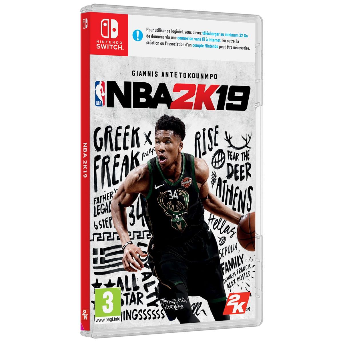 NBA 2K19 sur Switch (Via 20,99€ sur Carte Fidélité)