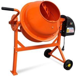 Bétonnière électrique - 63 L, 220 W, Acier Orange (Vendeur Tiers)