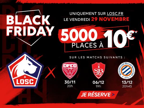 Billet pour 3 matchs de football Ligue 1 Lille OSC / Stade Brestois 29, Dijon FCO ou Montpellier Hérault SC pour 10€