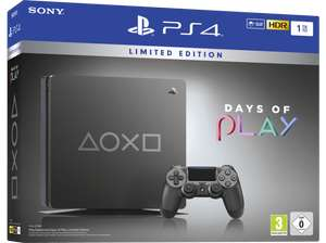 Console Sony PS4 Slim 1 To - Days of Play Limited Edition Acier noir (Frontaliers Suisse)