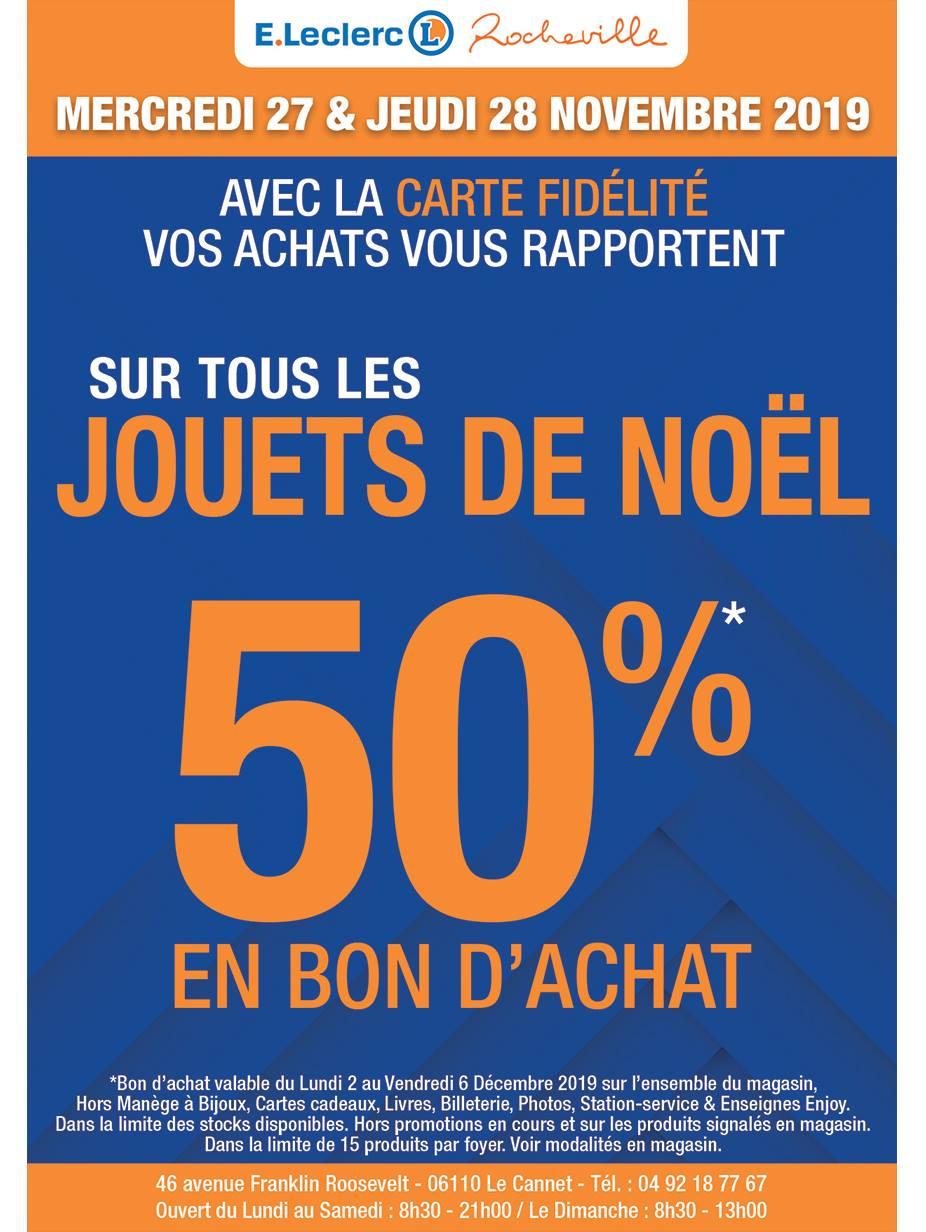 50% offerts en bon d'achat sur le rayon Jouets - Rocheville (06)
