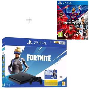 Pack Console Sony PS4 500Go + Fortnite + PES 2020