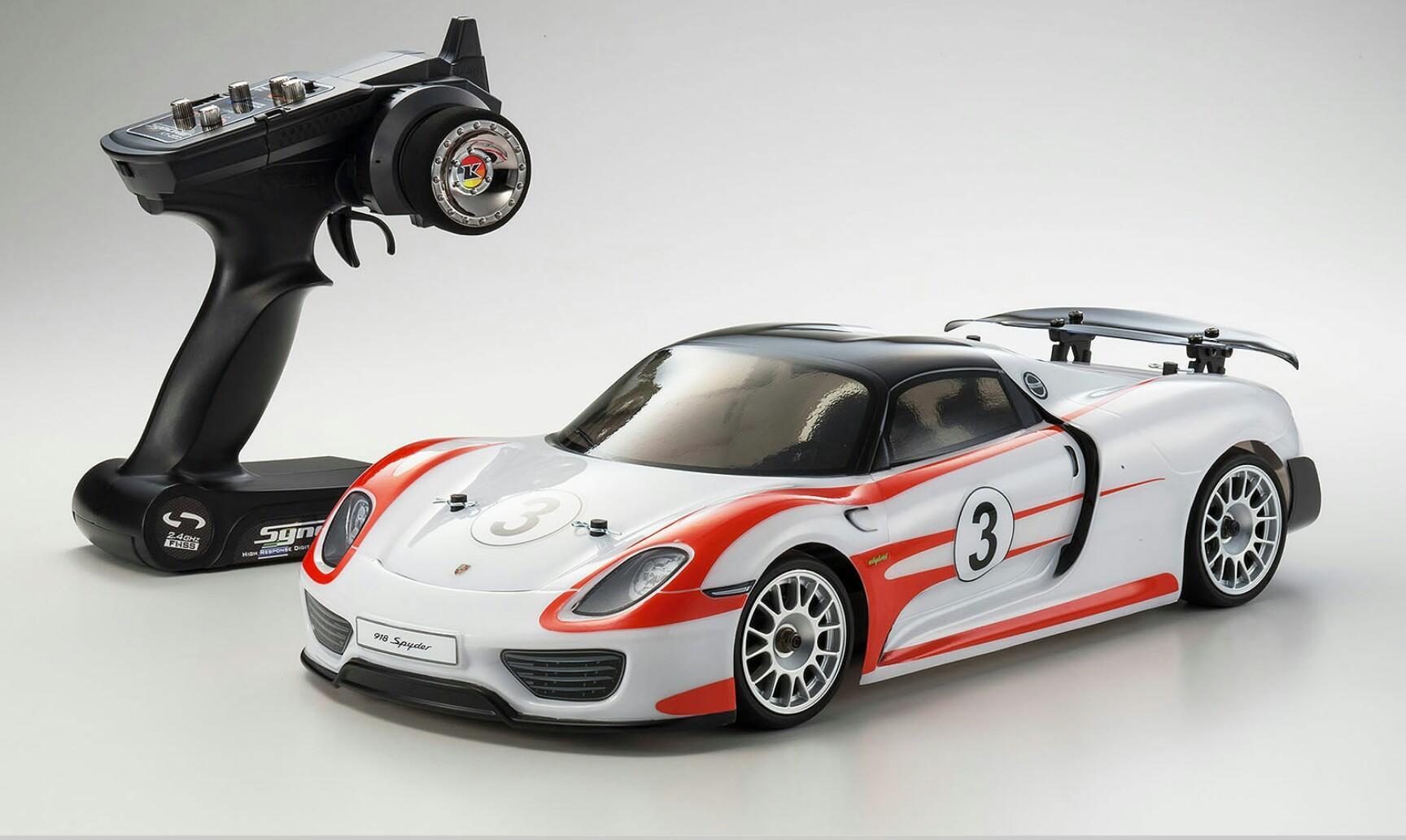 Voiture radiocommandée Kyosho Fazer Porsche 918 Spyder 4WD 1:10 RTR