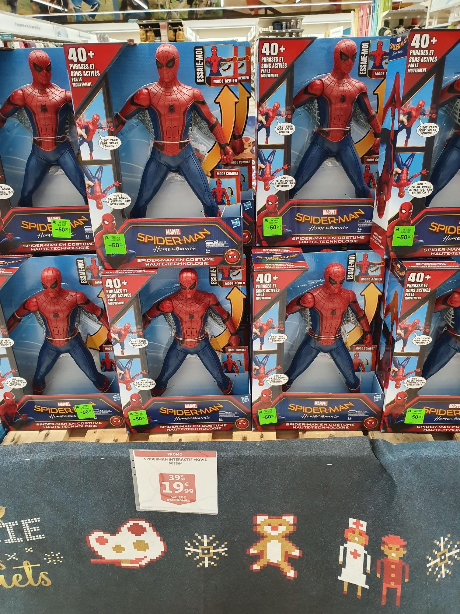 Figurine Spider-man Homecoming - Titan Interactif 38cm