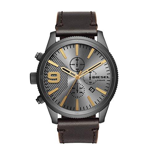 Montre Chronographe Quartz Diesel DZ4467 avec Bracelet en Cuir pour Homme