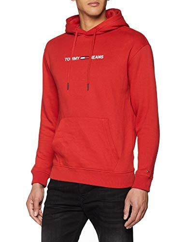 Sweat-Shirt à capuche Tommy Jeans Logo pour Hoodie Homme (Taille M et L)