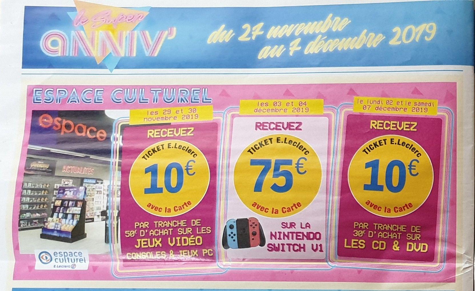 Sélection d'offres promotionnelles - Ex : 10e offerts par tranche de 50€ d'achat sur les Consoles et Jeux Vidéo (Bourgoin-Jallieu 38)