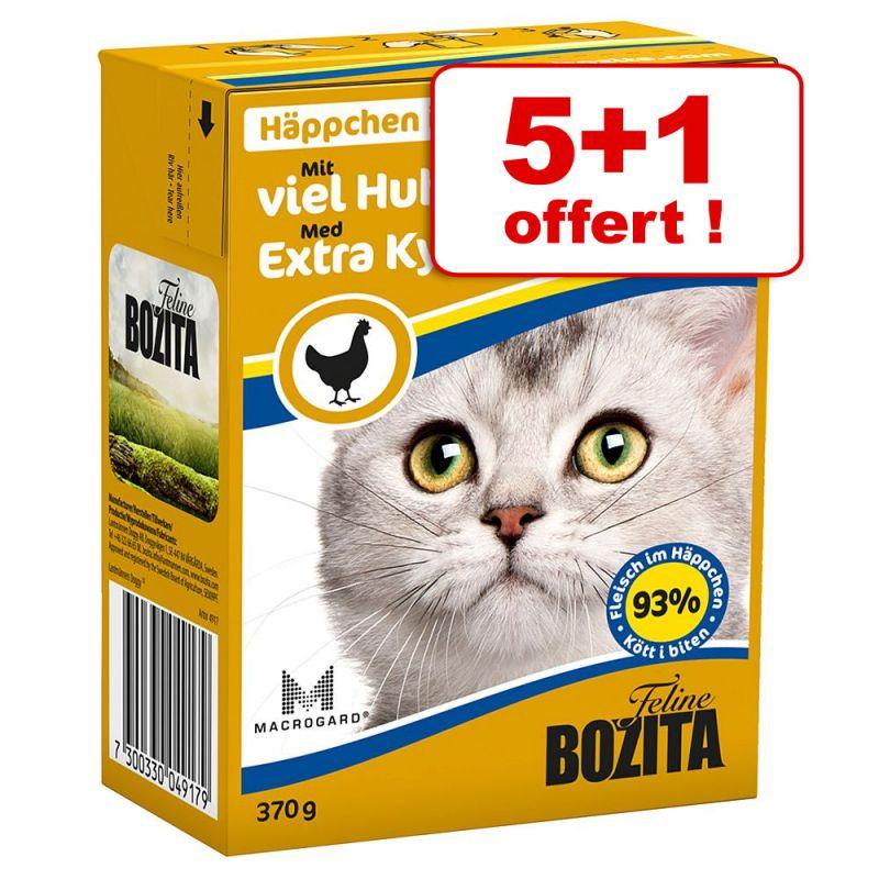 Zooplus - Lot de 6 boites Bozita Bouchées - 6 x 370 g (Renne ou boeuf) + de 15 variétés