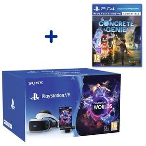 Pack PlayStation VR V2 MK4 + PlayStation Caméra V2 + VR Worlds à télécharger + Concrete Genie