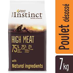 1 Paquet de croquettes pour Chat True Instinct High Meat Poulet Elevé en Plein Air - 7 Kg