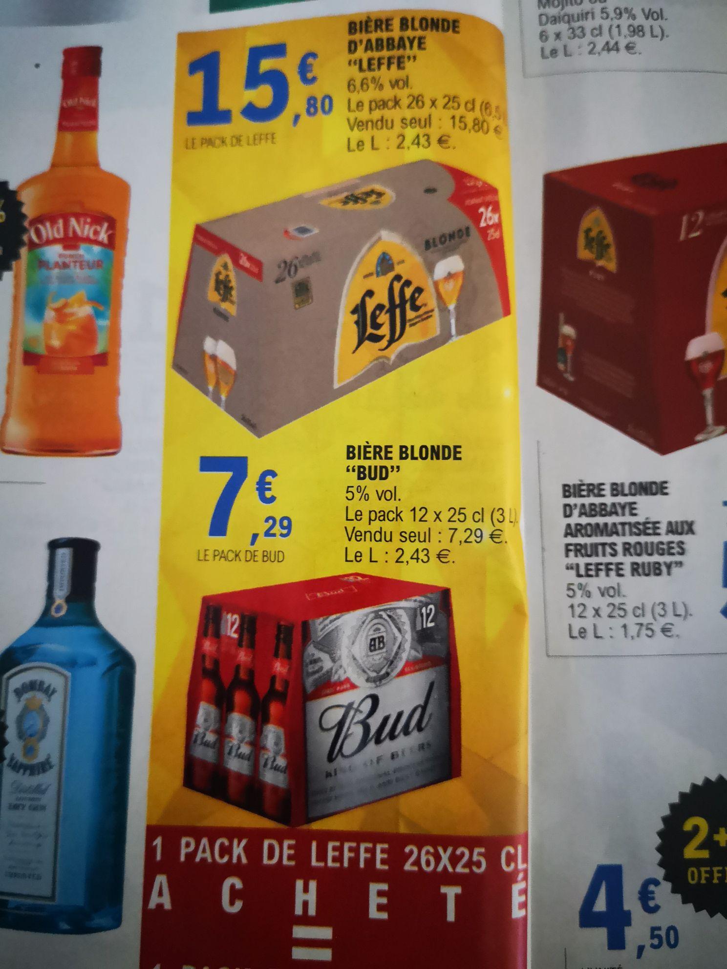 1 Pack de Bières Leffe acheté = un pack de Bud - Quimper (29)
