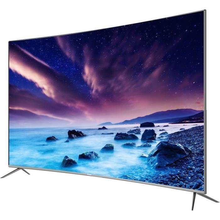 """TV 55"""" Haier LE55Q6500U - LED, 4K UHD, HDR, Incurvé, Smart TV"""