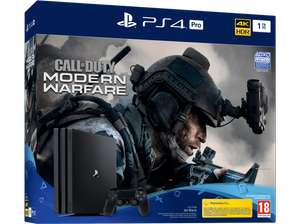 Pack Console Sony PS4 Pro 1 To Noir + Call of Duty Modern Warfare (Frontaliers Suisse)